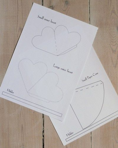 Paper Templates For Cone And Heart Shape Cone  Free Printables