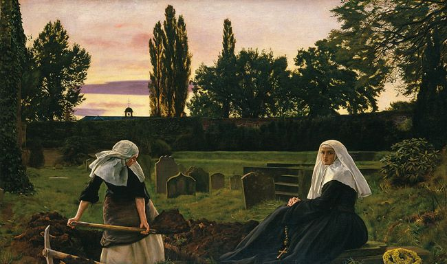 The Vale Of Rest By Sir John Everett Millais Available As A