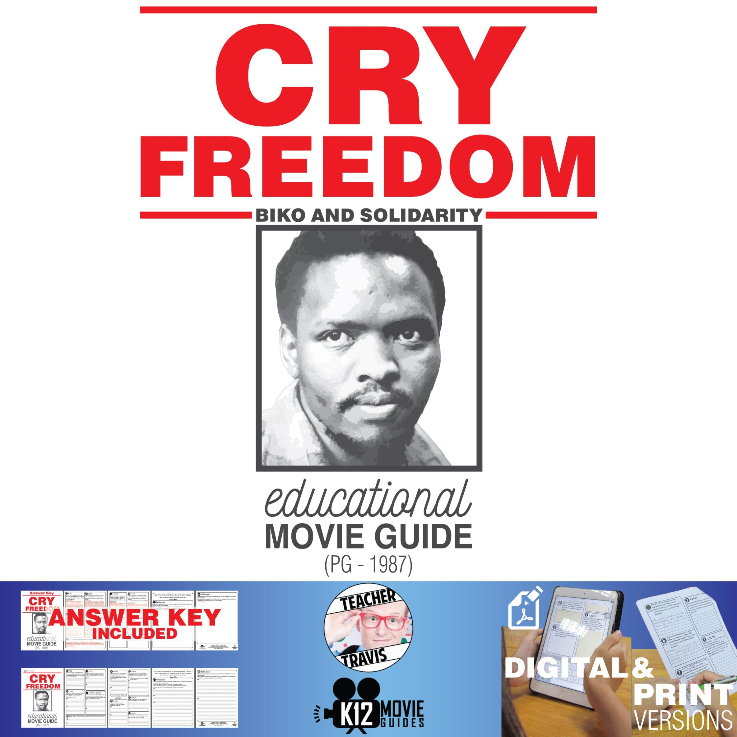Cry Freedom Movie Guide Questions Worksheet Pg