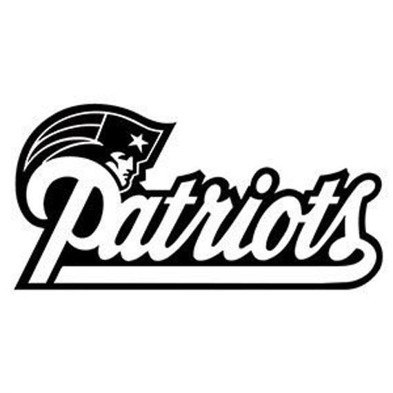 Patriots Window Vinyl Decal Patriots Team Decal Nfl Logo