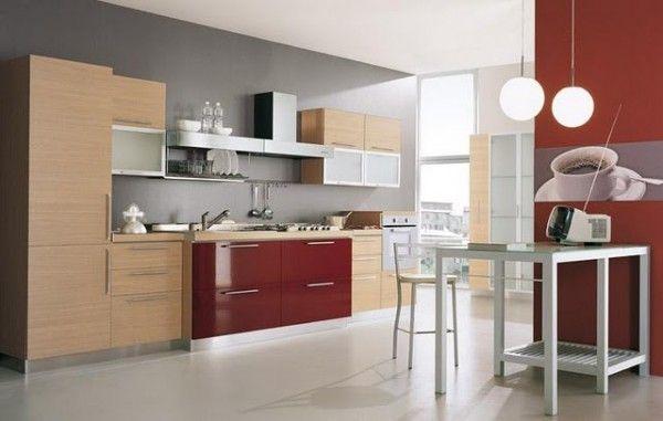 Cocina roja y gris Interiorismo, Diseño y Decoracion Pinterest
