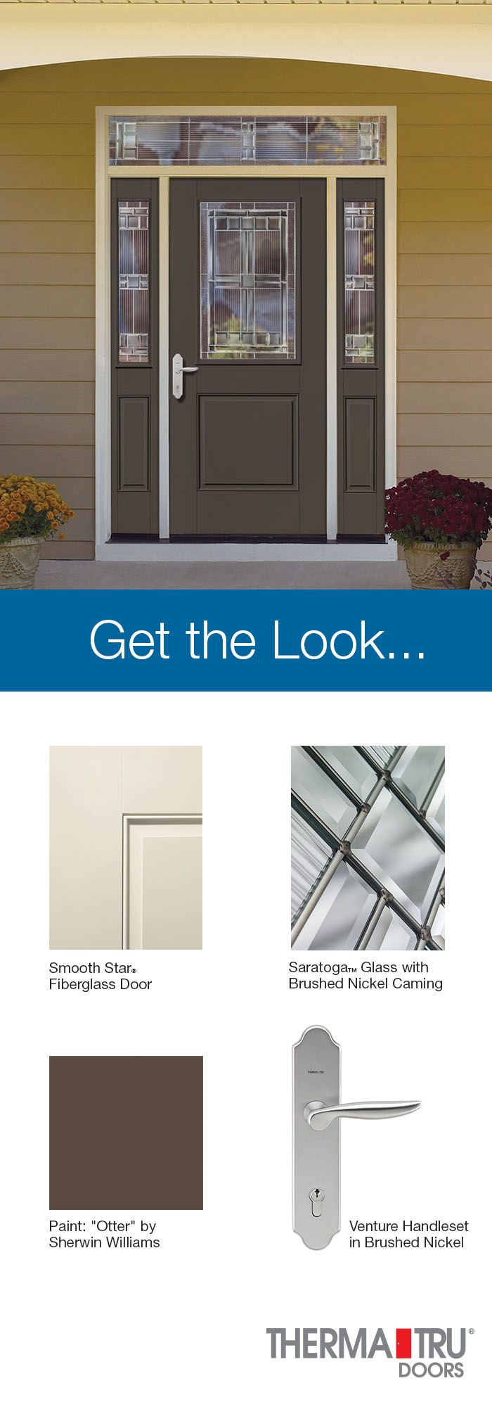 Therma Tru Smooth Star Fiberglass Door With Sherwin