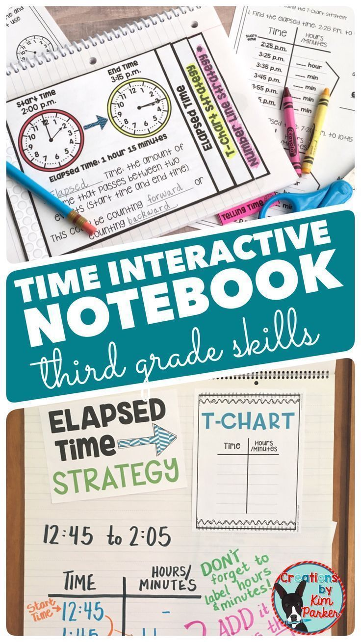 Telling Time (Nearest Minute & Elapsed Time) Interactive Notebook ...
