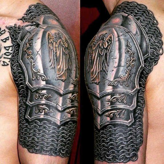 17 Tatuajes para hombres en el hombro 3d