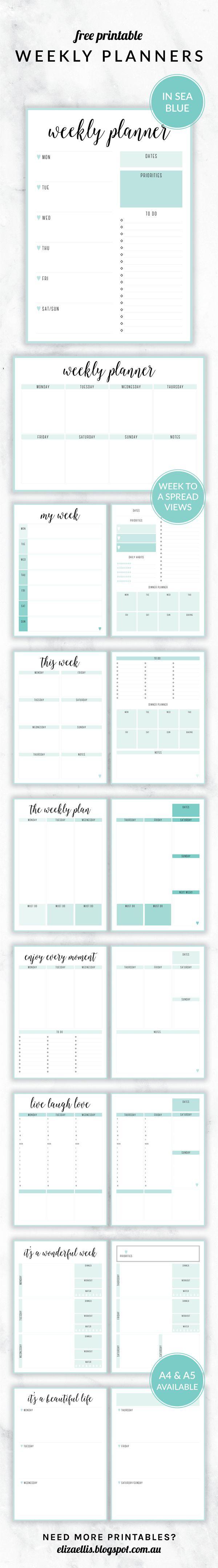 Free Printable Irma Weekly Planners Weekly Planner Planner Printable Planner