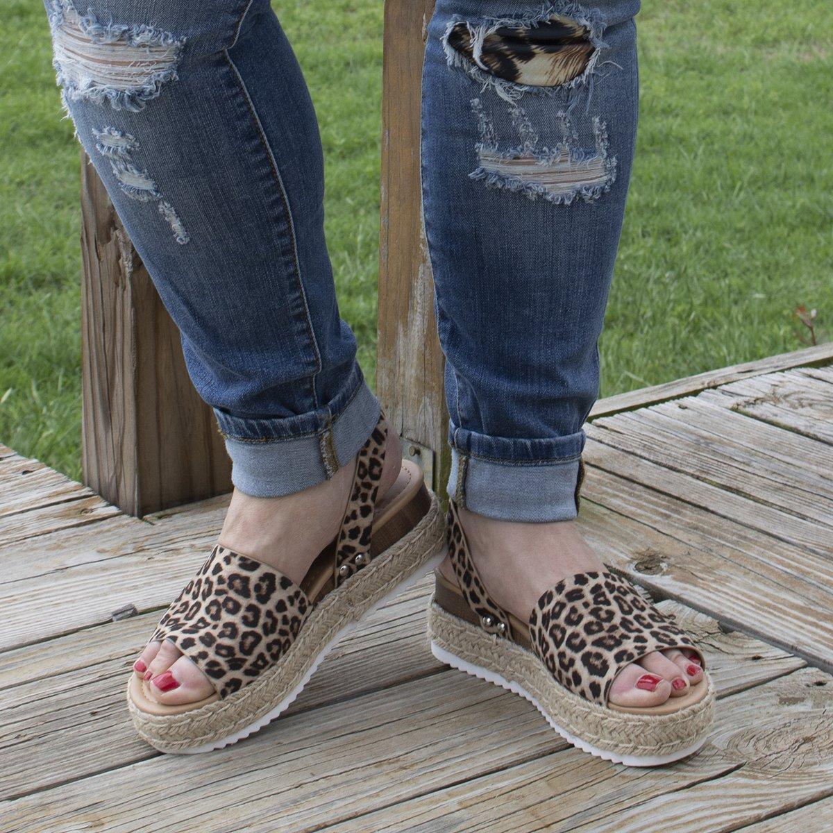 Leopard Platform Sandals by Ccocci