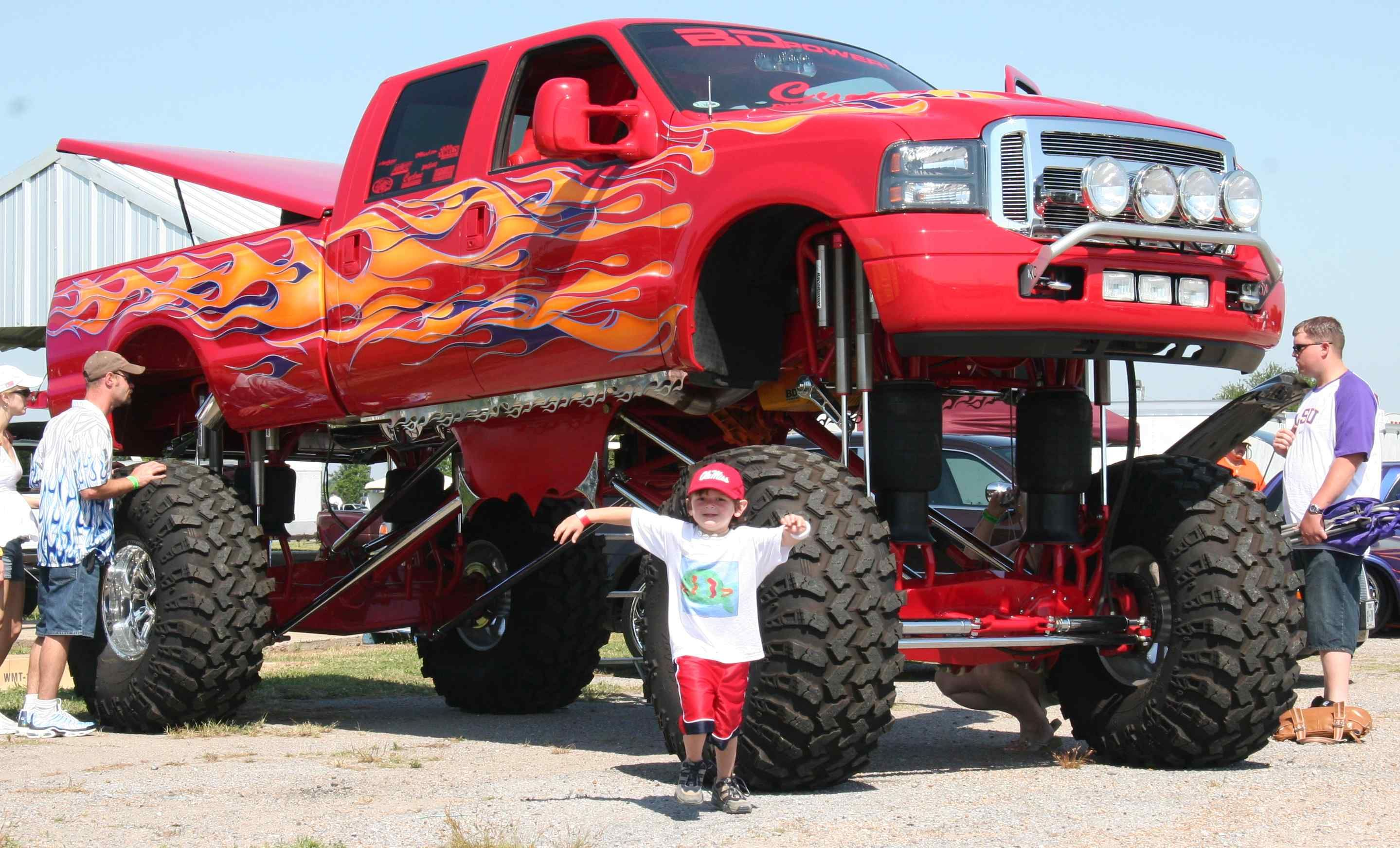 "Red ""Monster"" ford-super-duty Truck ( not a F-150 a larger ..."