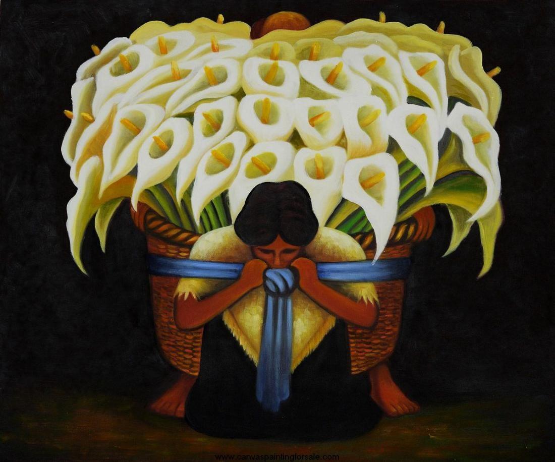 Esta Flor Eran Las Flores Predilectas De Frida Kahlo Y Diego Rivera Cuyos Cuadros Nos Dejan Ver Cargadas De Alcatraces A Diego Rivera Vendedora De Flores Arte