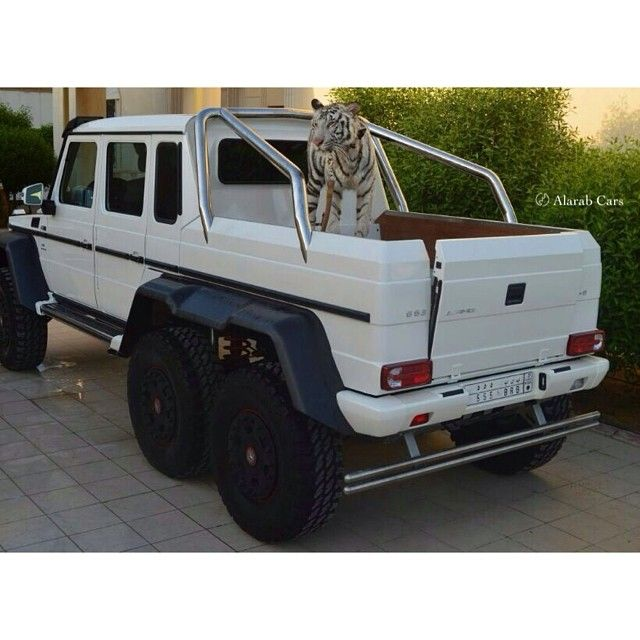 Luxury Car Obsession: White Tiger And Monster White Mercedes Benz G63 AMG 6x6