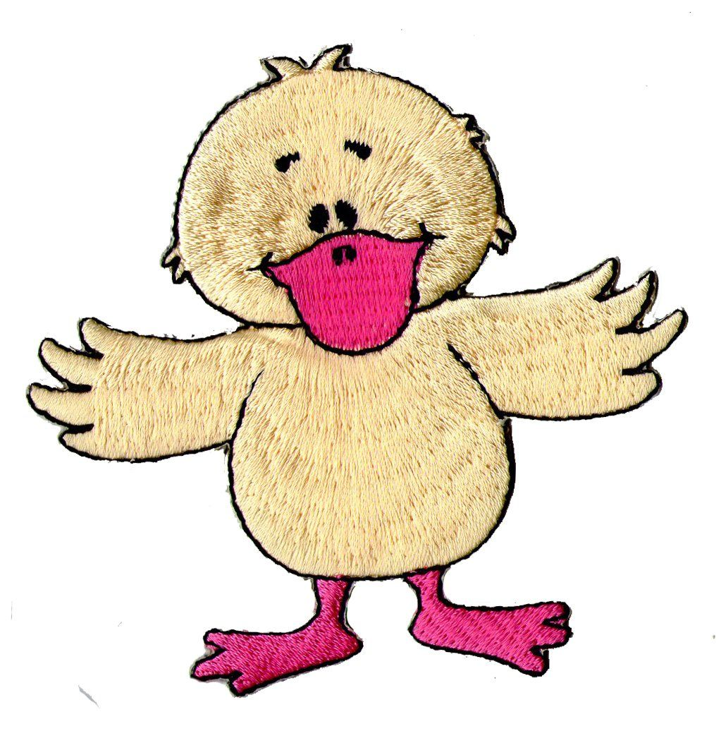 Kinderkleidung clipart  kleine Ente, Katze, Aufnäher, Lustige Tiere, Aufbügler, Bügelbild ...