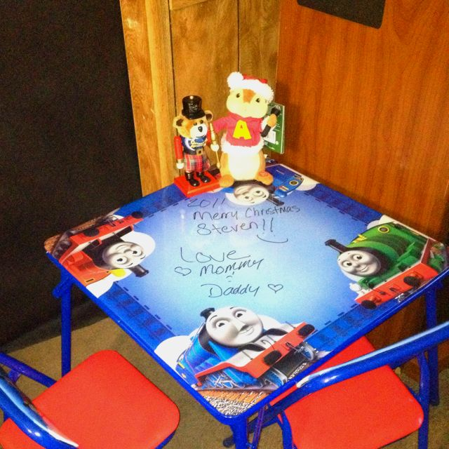 Thomas and friends table \u0026 chair set purchased at Walmart. I love that the & Thomas and friends table \u0026 chair set purchased at Walmart. I love ...