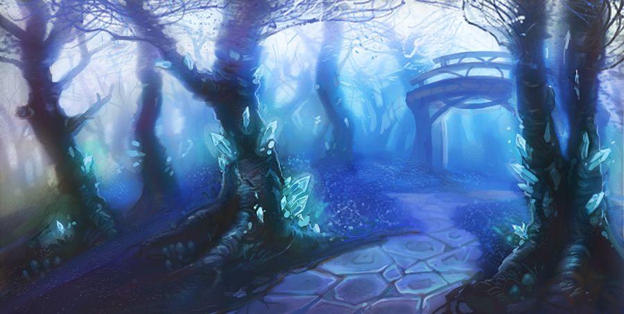 Gravity Falls Landscapes Wallpaper Crystal Forest By Eepox Deviantart Com On Deviantart