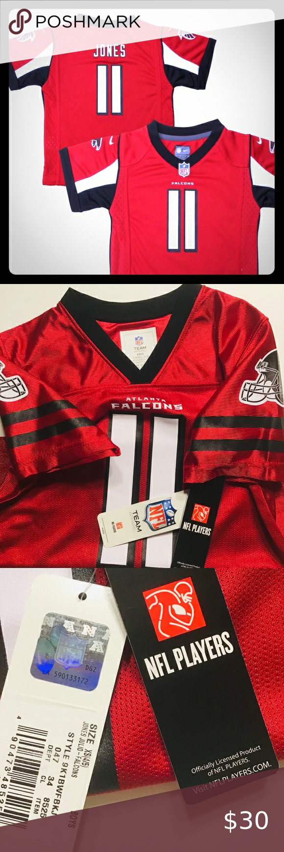 Bnwt Nfl Team Apparel Atlanta Falcons Jersey In 2020 Team Apparel Nfl Team Apparel Nfl Shirts