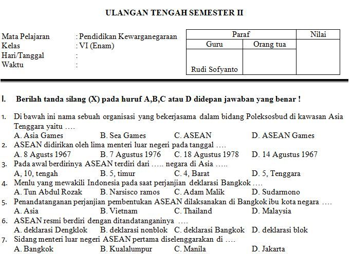Soal Uts 2016 Mata Kuliah Bahasa Indonesia