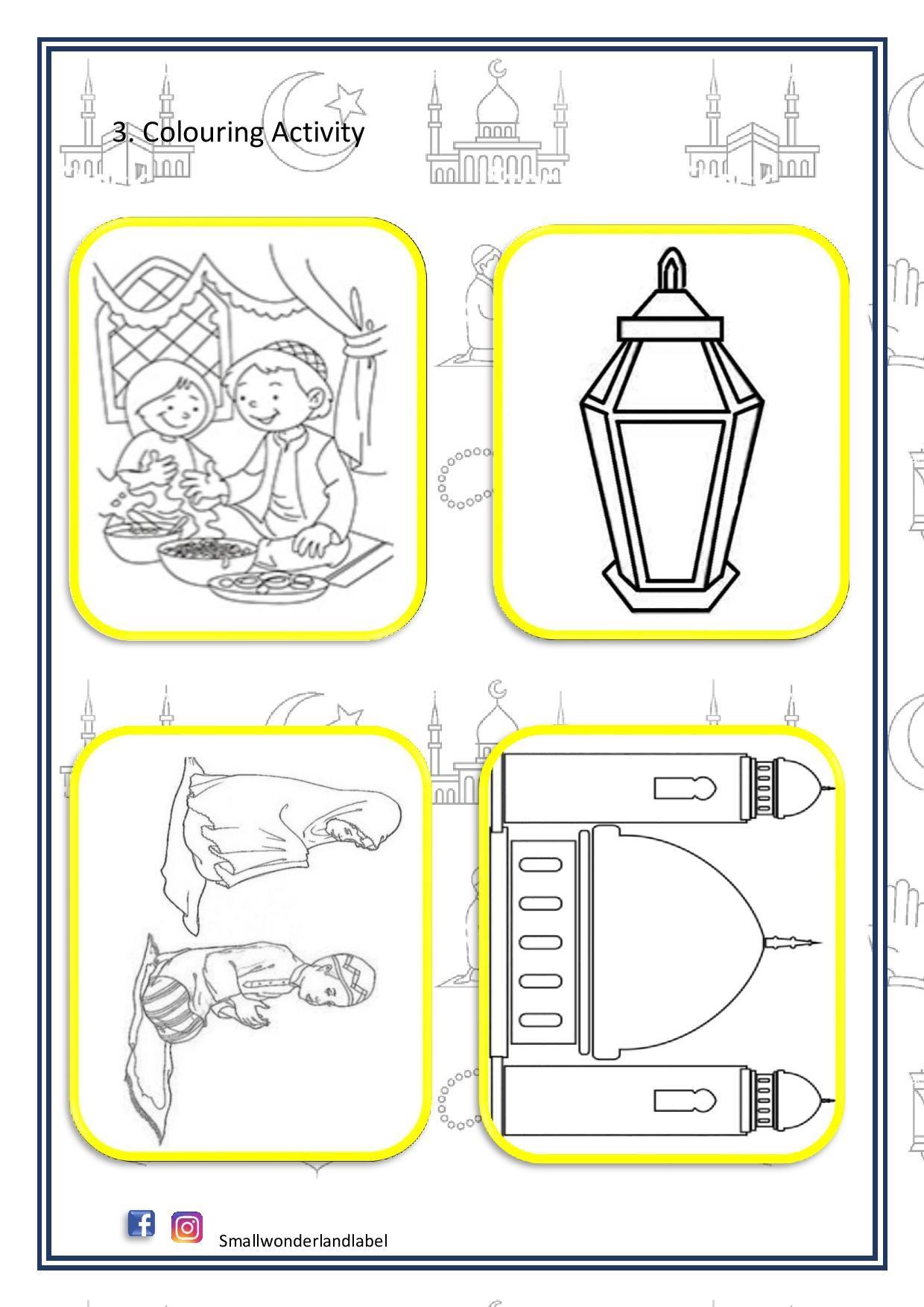 Coloring Activity Ramadan Printable In