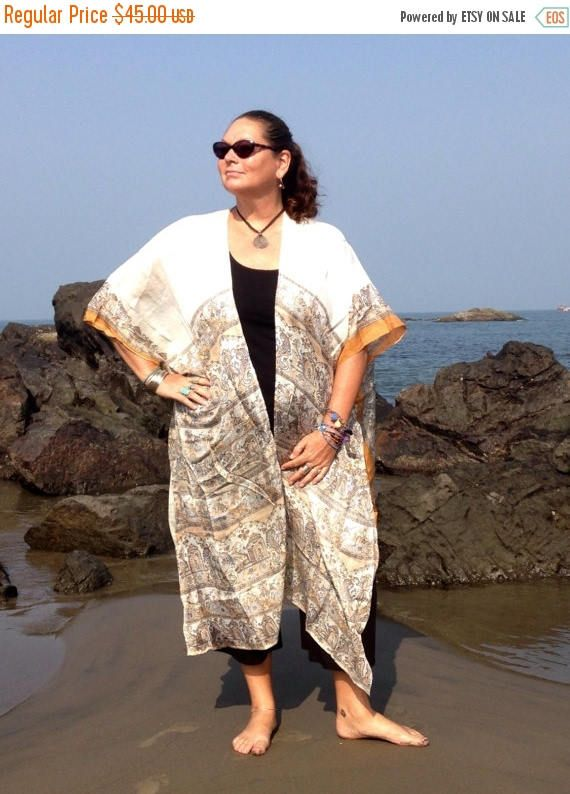 963aa74456a Boho Kimonos made from up-cycled silk saris by IndiBlu Boutique on Etsy.  Gorgeous and light weight make this a great go-to summer accessory for the  beach