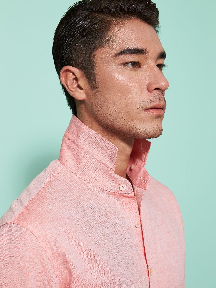 Men\'s mandarin collar shirts   Shanghai Tang SS16 M   Pinterest