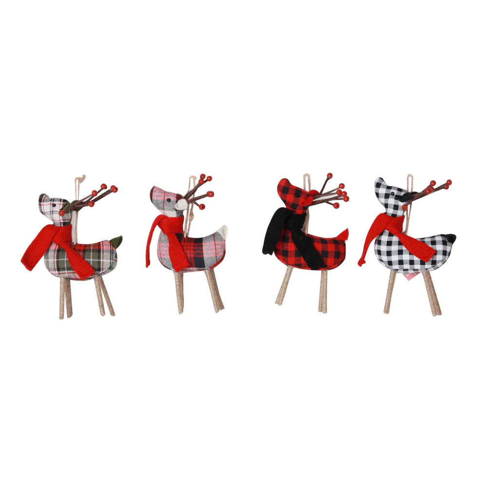 10605079_3.jpg Reindeer ornaments, Plaid fabric, Reindeer