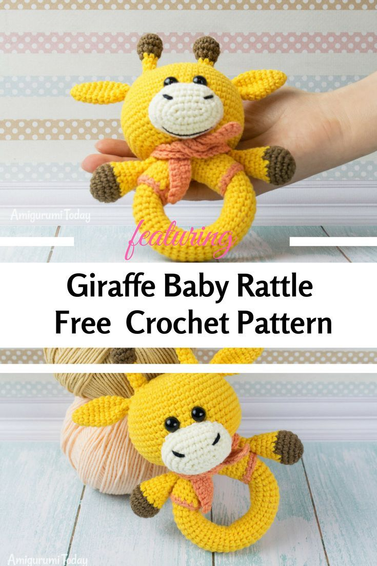 Free Crochet Giraffe Rattle Pattern - Knit And Crochet Daily