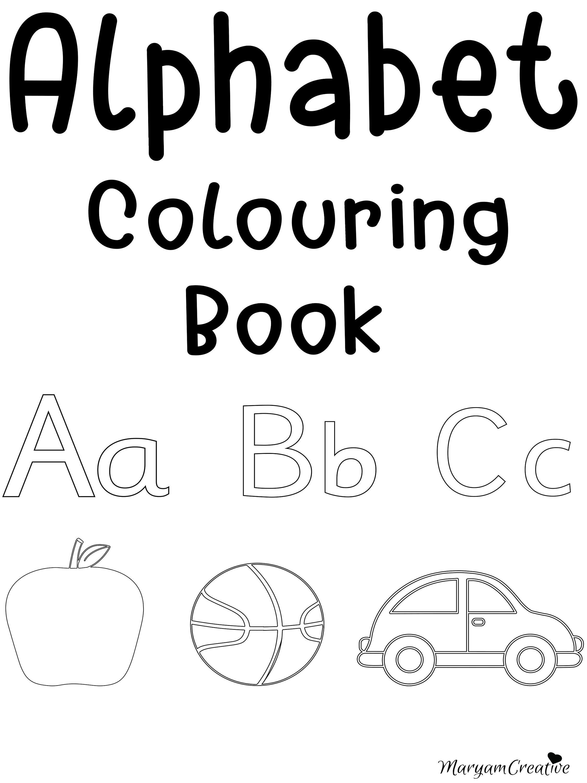 Printable Alphabet Colouring Book Preschool Reception