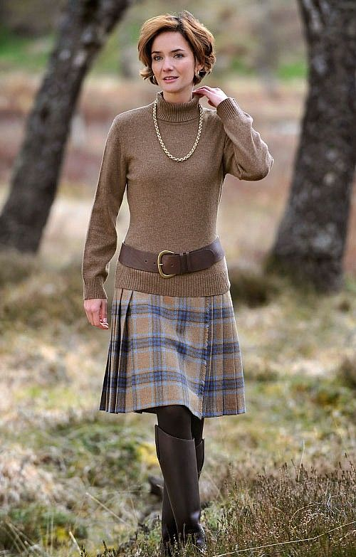 Tweed Kilt Scottish Charm Tartan Clothing Fashion