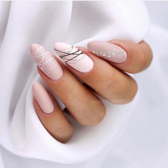 Маникюр на острые ногти - 110