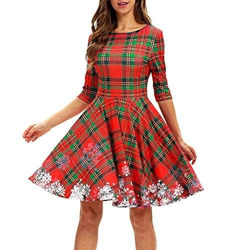41617739c730 Riou-Weihnachtskleid-Ballkleider-mit-Hohem-Damen-Weihnachten-Partykleider-