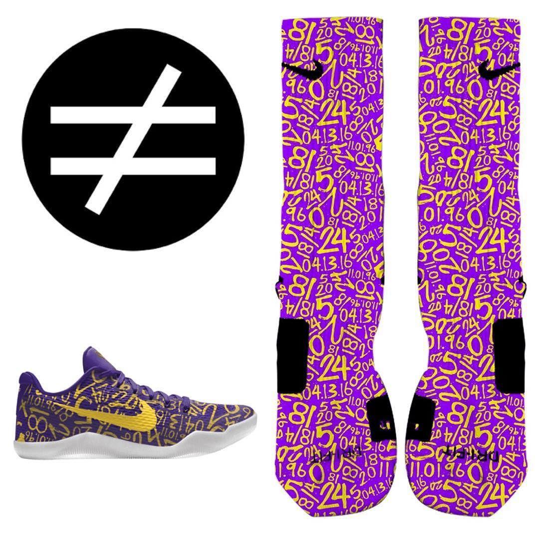 separation shoes 96b3e c6c31 Mamba Day Custom Nike Elites to match your Kobe 11 Mamba Day IDs.  SneakerWork.com  MambaDay  MambaOut