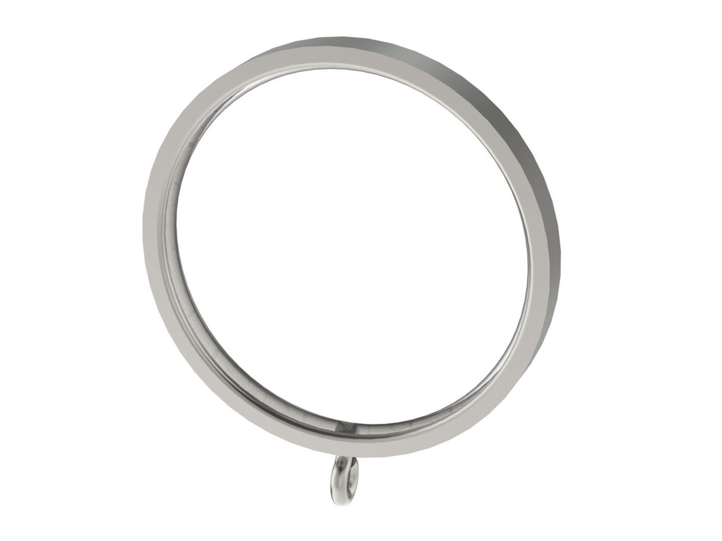 Stainless Steel 50mm Flat Section Curtain Ring For 50mm Steel Or