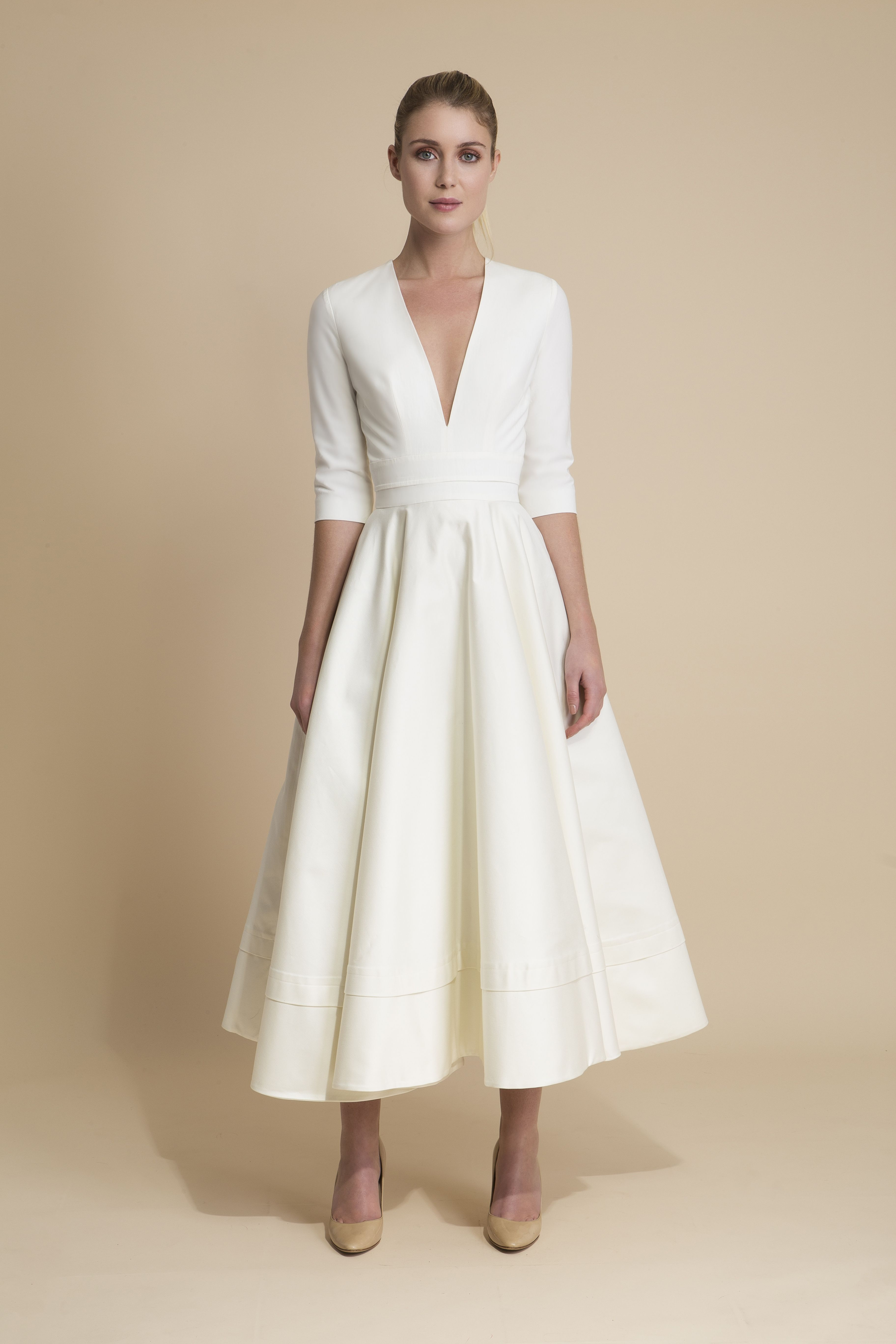 Prospère - Robe de mariée longueur midi avec