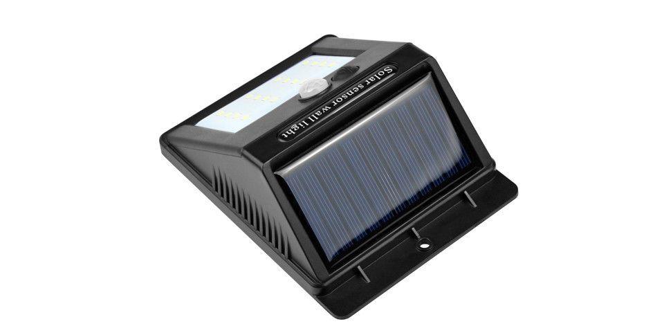 Lampada solare da parete esterna con sensore di movimento fai da