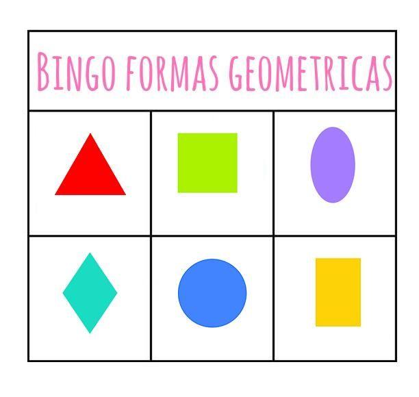 Menta m s chocolate recursos para educaci n infantil bingo de las formas geometricas formas - Figuras decorativas grandes ...