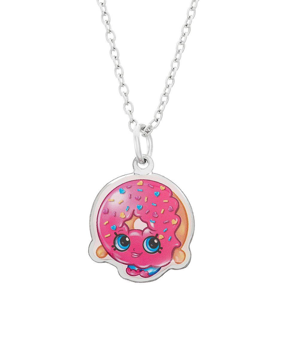 Loving this silvertone shopkins dulish donut pendant u chain on