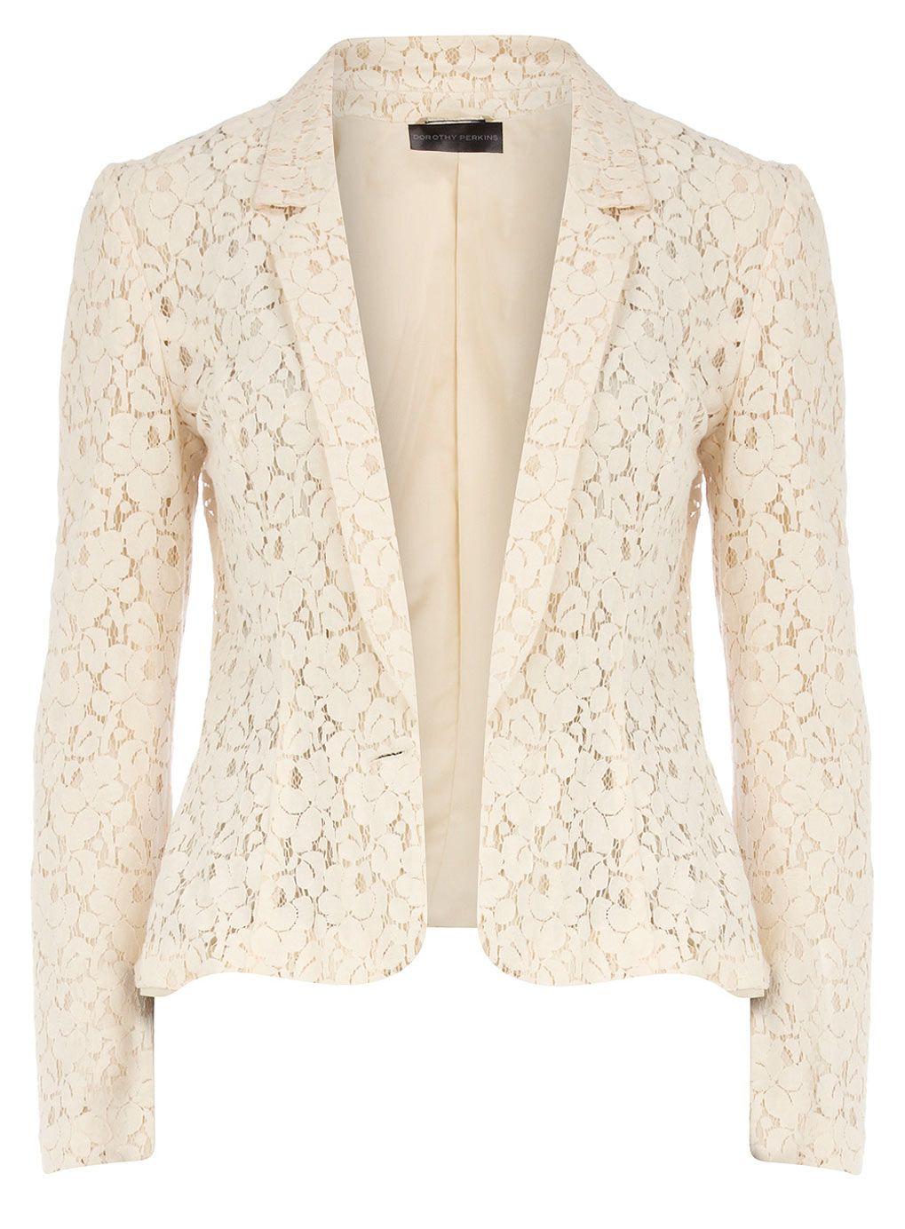 Cream lace blazer !