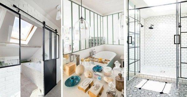 La Verrière Atelier dans la Salle de Bains (26 Idées) Bathroom