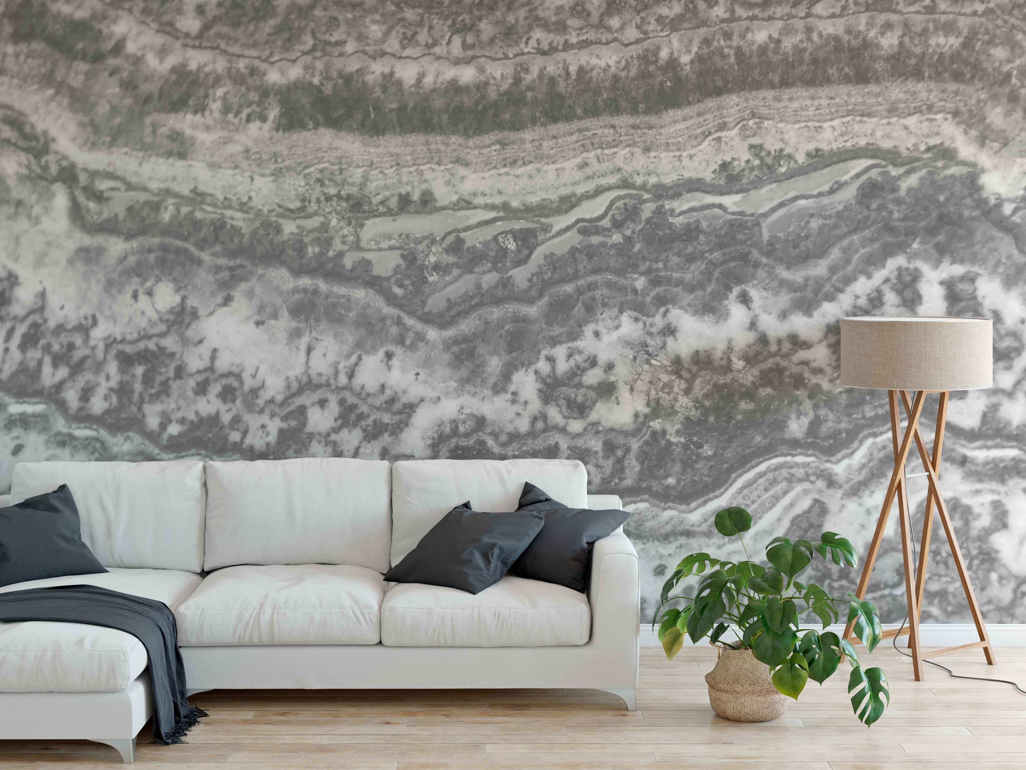 Grey Marble Wallpaper Mural Grey Marble Wallpaper Remov