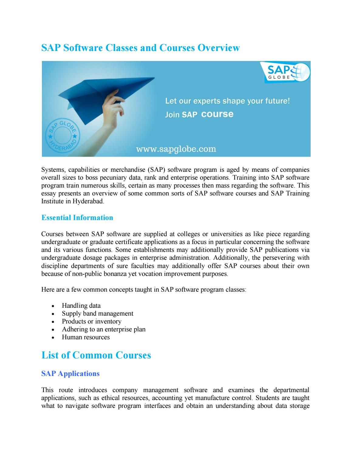 Sap Overview Pdf