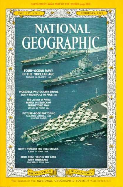 National Geographic February 1965 / National Geographic Photography / Covers