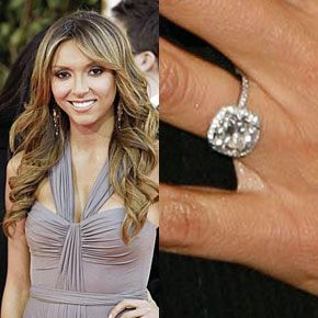 giuliana rancics four carat cushion cut diamond engagement ring by graff is worth approximately 100000 - Giuliana Rancic Wedding Ring