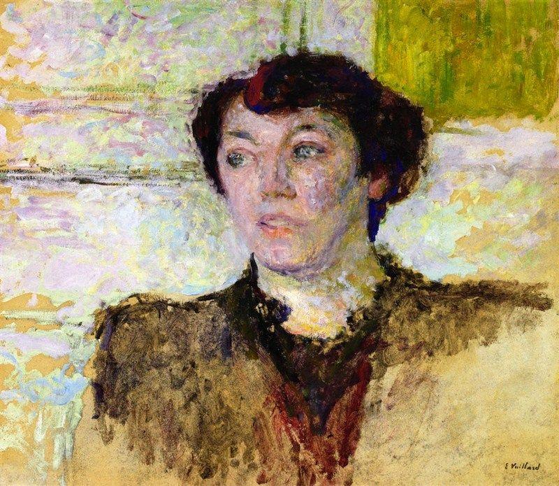 Woman's Face-c.1908 by Edouard Vuillard