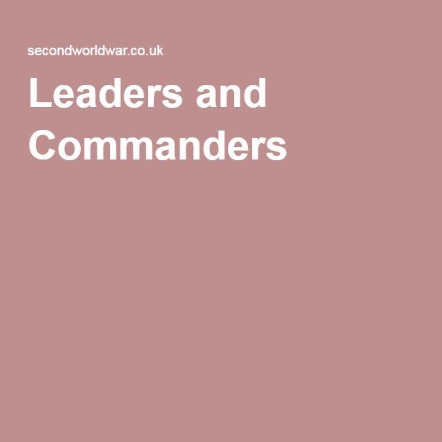 Leaders and Commanders