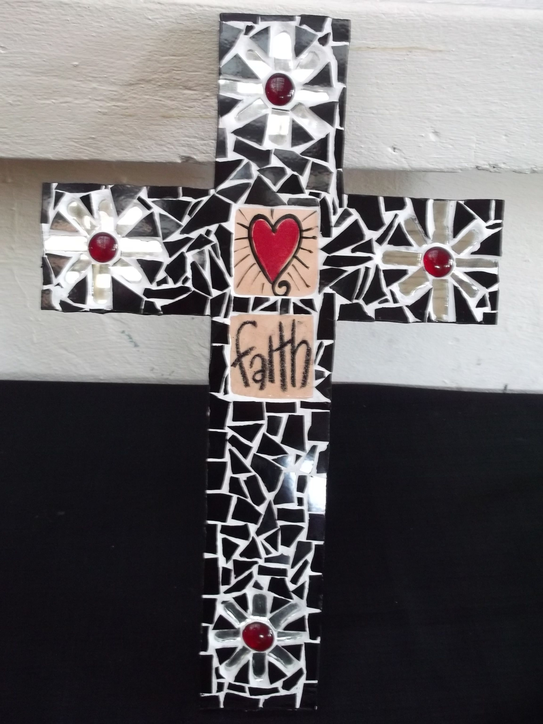 Cross template simple cross image craft ideas pinterest crosses - Mosaic Cross By One Of A Kind Mosaic Craftsmosaic Projectsmosaic