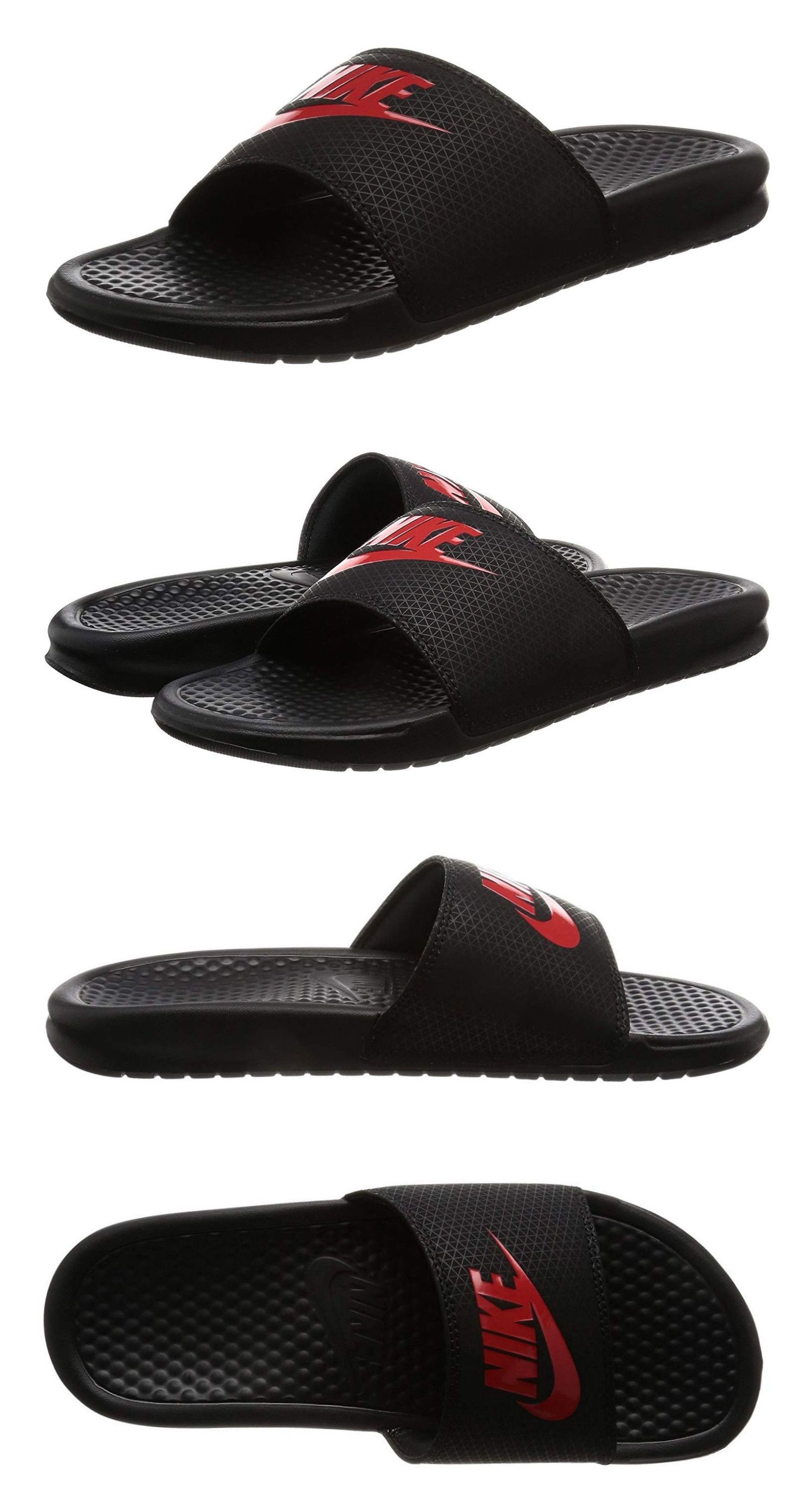 the best attitude ee3c0 ded50 Sandals 11504  Nike Benassi Jdi Black, Challenge Red Slides Sports Mens  Sandals Item 343880 060 -  BUY IT NOW ONLY   29.95 on  eBay  sandals   benassi ...