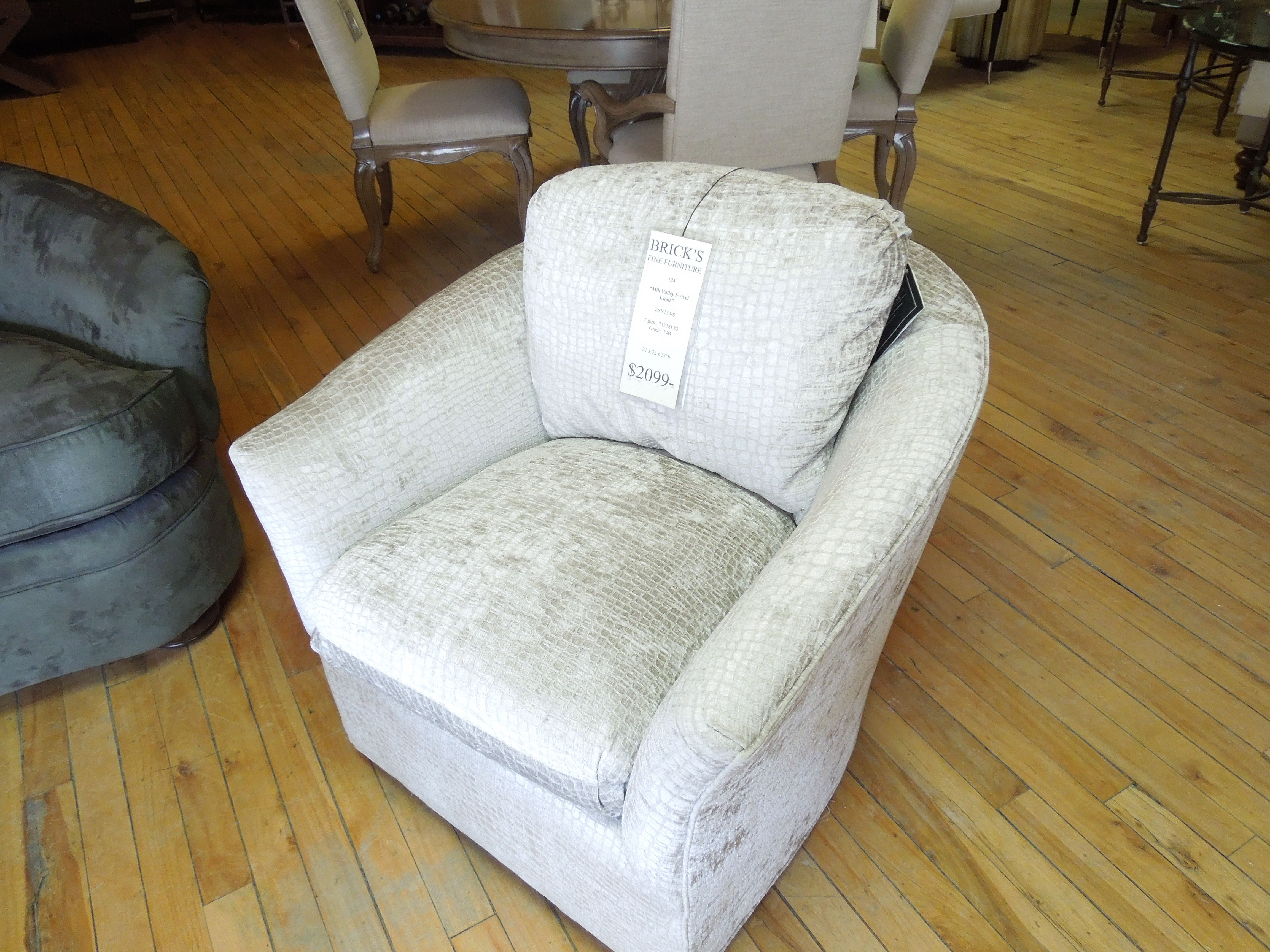 Mill Valley Swivel Chair from Brick Fine Furniture