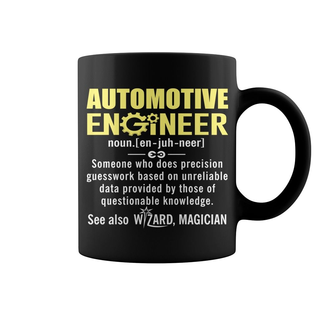 Automotive Engineer Definition Hot Mug  coffee mug, cool mugs, funny coffee mugs, mug gift #mugs #ideas #gift #mugcoffee #coolmug