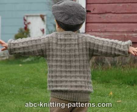 6225d4043f1ee ABC Knitting Patterns - Little Boy s Cuff-to-Cuff Sweater A FREE EASY  PATTERN sizes 2-10