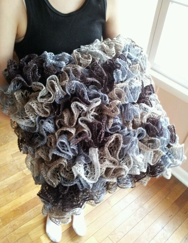 Cute pillow crocheted with sashay yarn... | Sashay yarn patterns ...