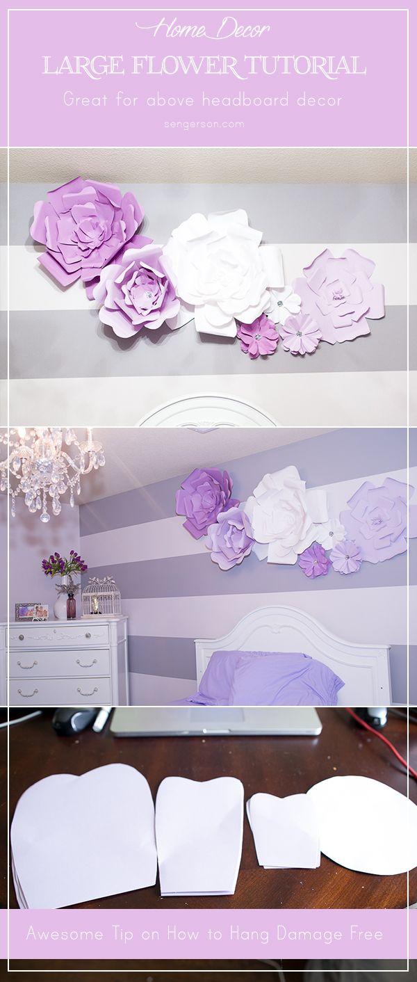 DIY Large Paper Flowers  Pinterest  Large paper flowers Backdrops