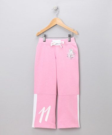 30ed90a7e25 Take a look at this Pink  Soccer Crazy  Warm-Up Pants - Toddler   Girls by  Xara on  zulily today!