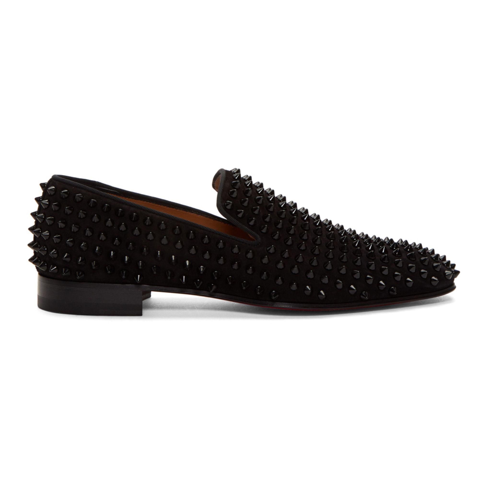 Christian Louboutin Black Dandelion Spikes Loafers Dress Shoes Men Christian Louboutin Loafers Christian Louboutin [ 2040 x 2040 Pixel ]